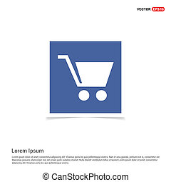 Shopping cart icon - Blue photo Frame