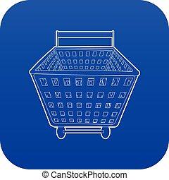 Shopping cart icon blue vector