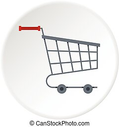 Shopping cart icon circle