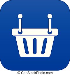 Shopping cart icon digital blue