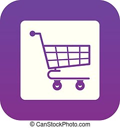 Shopping cart icon digital purple