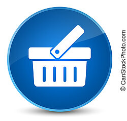 Shopping cart icon elegant blue round button