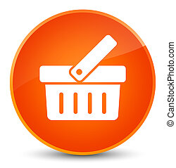 Shopping cart icon elegant orange round button