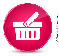Shopping cart icon elegant pink round button