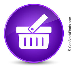 Shopping cart icon elegant purple round button