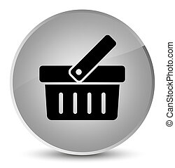 Shopping cart icon elegant white round button