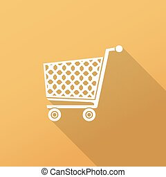 Shopping cart icon - flat design