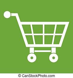 Shopping cart icon green