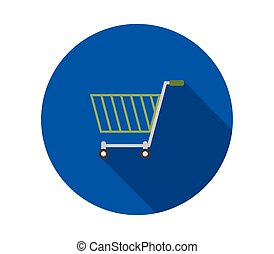 shopping cart icon illustrated in vector on white background