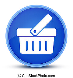 Shopping cart icon isolated on special blue round button abstract