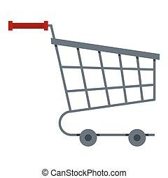 Shopping cart icon isolated