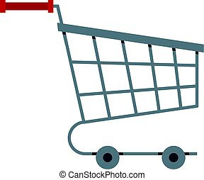 Shopping cart icon isolated