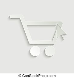 shopping cart icon. line style