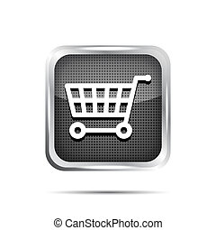 shopping cart icon on a white background