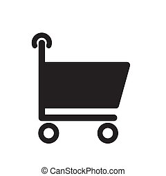 shopping cart icon on a white isolated background. Vector image