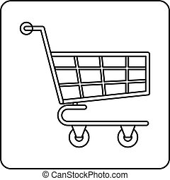 Shopping cart icon outline
