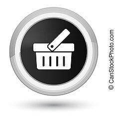 Shopping cart icon prime black round button