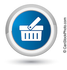 Shopping cart icon prime blue round button