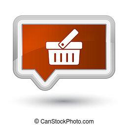Shopping cart icon prime brown banner button