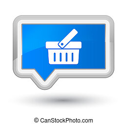 Shopping cart icon prime cyan blue banner button