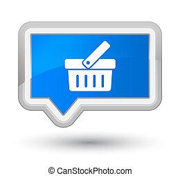 Shopping cart icon prime cyan blue banner button