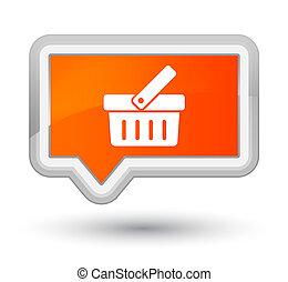 Shopping cart icon prime orange banner button