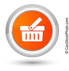 Shopping cart icon prime orange round button