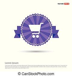 Shopping cart icon - Purple Ribbon banner