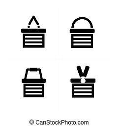 Shopping cart Icon Set 4 style