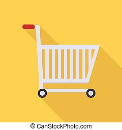 Shopping Cart Icon | Set of great flat icons with style long shadow icon and use for network, communication, internet and much more.