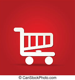shopping cart icon, shopping basket design