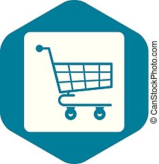 Shopping cart icon simple