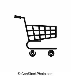Shopping cart icon, simple style