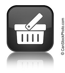Shopping cart icon special black square button