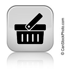 Shopping cart icon special white square button