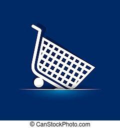 Shopping cart icon stock vector