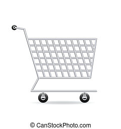 Shopping cart icon - Vector illustration of shopping cart...