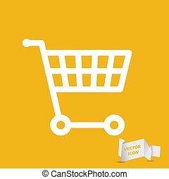shopping cart icon - vector illustration