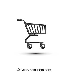 Shopping Cart Icon. Vector Shop Symbol Isolated on White Background.