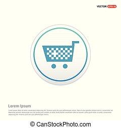 Shopping Cart icon - white circle button