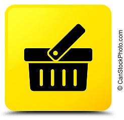 Shopping cart icon yellow square button