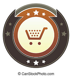 Shopping cart imperial button