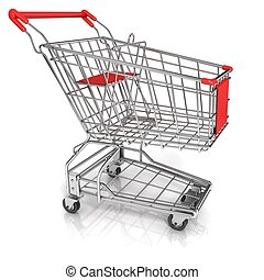 Shopping cart, isolated on white
