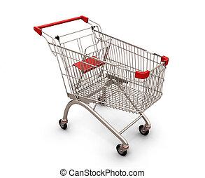Shopping cart isolated on white