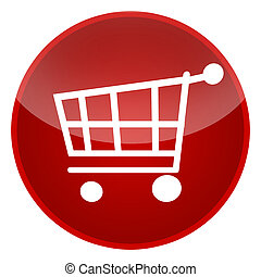 Shopping cart isolated over white background