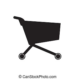 Shopping cart, isolated vector icon