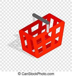 Shopping cart isometric icon