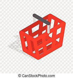 Shopping cart isometric icon