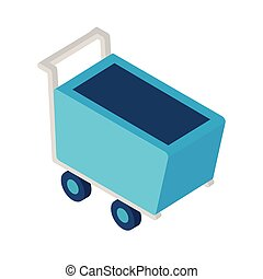 shopping cart isometric style icon vector design