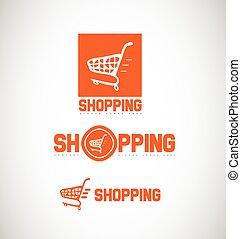 Shopping cart logo icon - Vector company logo icon element...